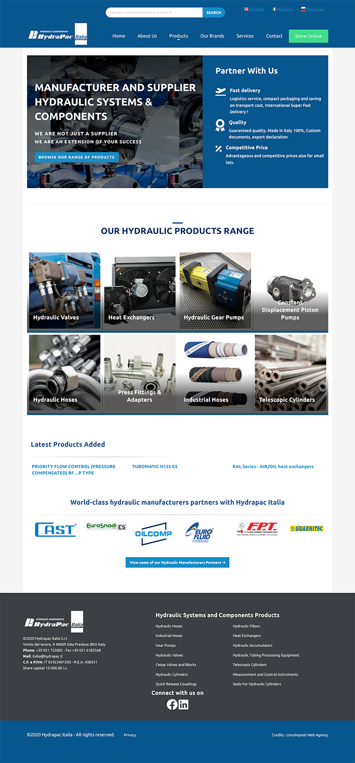 <h4>Improved user experience for an Hydraulic Systems Company</h4>